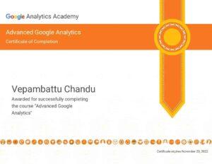 Google Analytics Advance